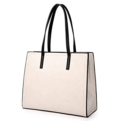 0f856552d96f KUNZITE Women s Fixed Handbag Large Capacity Tote Sling Bag For Ladies And  Girls Fashion Portable Hand Bag (Beige)  Handbags  Amazon.com