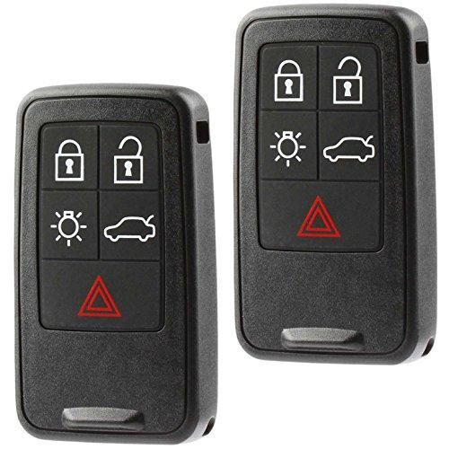 (Car Key Fob Keyless Entry Smart Remote fits Volvo S60 S80 V60 V70 XC60 XC70 (KR55WK49264), Set of 2)