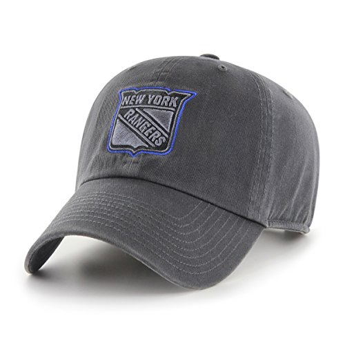 NHL New York Rangers Male OTS Challenger Adjustable Hat, Dark Charcoal, One Size