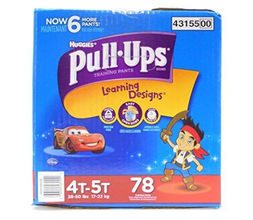 Pull-Ups Training Pants with Learning Designs for Boys, 4T-5T, 78 Count (Packaging May Vary)