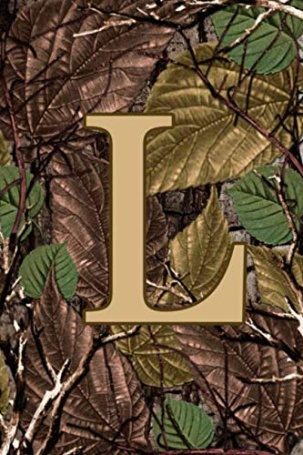 L: Letter L Monogram Camo Camouflage Hunting Notebook & Journal