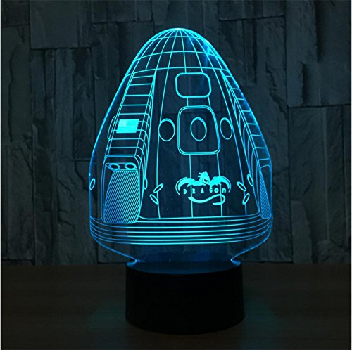 Lh&Fh Creative Stereo With 5 Color Gradient 3D Night Light LED Desk Lamp USB Gift Table Lights