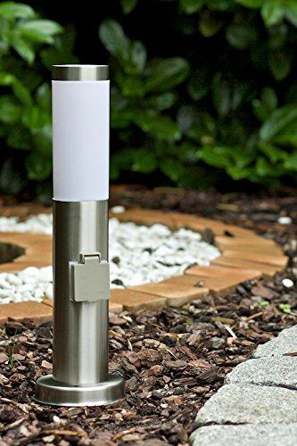 Nordlux Edelstahl Leuchte Stand 45 cm Höhe mit Steckdose 22638834 Edelstahl Lampen Edelstahl Leuchten