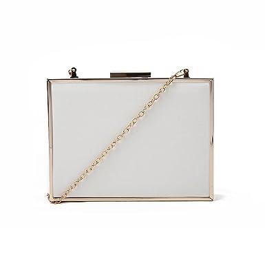 b709d0e5cf1 SALE - Women's 'LDN' Designer Style Classy Box Clutch Bag - Ladies Simple  Evening
