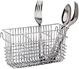 Sturdy Chrome-plated Steel Utensil Drying Rack Basket Holder (Chrome II)