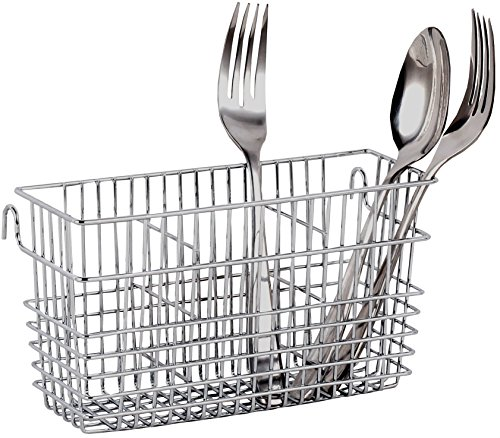 (Neat-O Sturdy Chrome-Plated Steel Utensil Drying Rack Basket Holder (Chrome II))