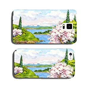 Spring landscape cell phone cover case Samsung S6