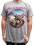 Iron Maiden Men's Trooper Circle Vintage Soft T-Shirt, Medium