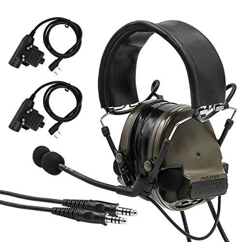 TAC-SKY COMTA III Double Plugs Tactical Headset,Ear