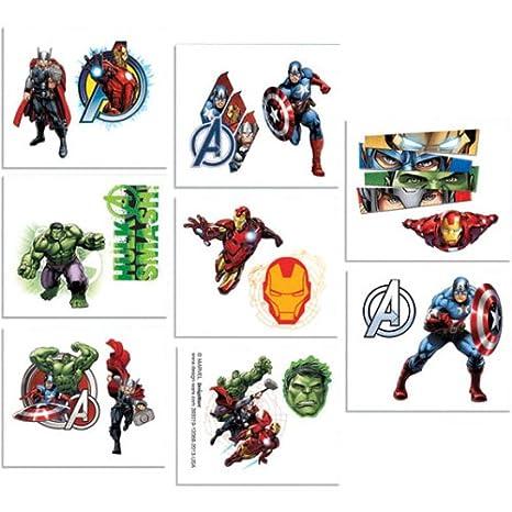 Avengers 16 pcs Tatuajes – Divers Tatuajes de piel Mavel.: Amazon ...