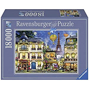 Ravensburger 17829 Passeggiata Notturna A Parigi Puzzle 18000 Pezzi