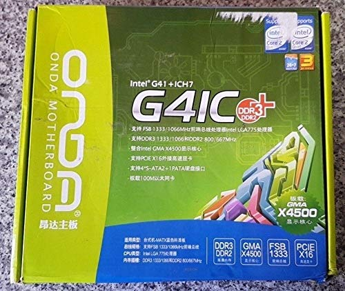 ONDA G41C Compatible for Intel G41+ICH7 LGA 775 Compatible for Intel Motherboard DDR3 1333/1066 DDR2 800/667