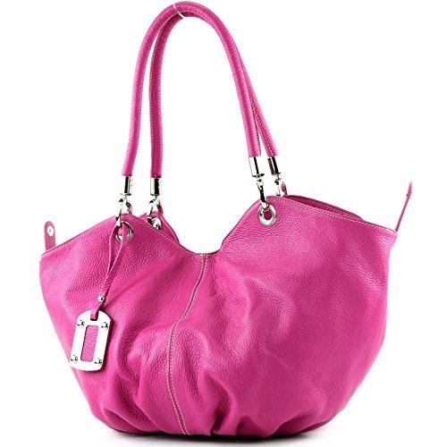 Para Bolso Cuero Hombre Asas Made Italy De Pink xpfqHw7X