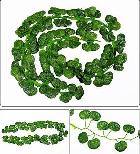 12pcs Artificial Flower Vine Decoration Fake Begonia Leaf Leaves - 2