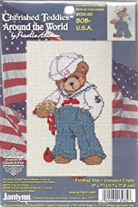 CHERISHED TEDDIES AROUND THE WORLD BY PRISCILLA HILLMAN (COUNTED CROSS STITCH) BOB-U.S.A.