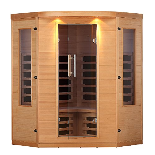 orner Sauna with 7 Carbon Far Infrared Heaters, Bluetooth and LED Chromotherapy Lighting ()