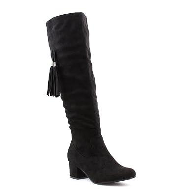 3b836bdff501 Lilley Womens Black Tassel Knee High Boot - Size 9 UK - Black ...