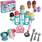 IQ Toys Pretend Play Yummy Ice Cream Stand Set, 39 Piece Realistic Playset