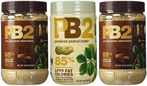 PB2 Powdered Peanut Butter Bundle (2 Chocolate Peanut Butter And 1 Peanut Butter)