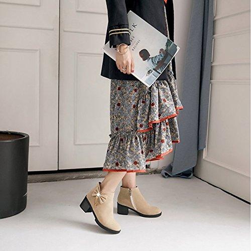 Stiefel Fashion hellen maßgeschneiderte Damen Stiefel Stiefel Reitstiefel Sohlen Werkstoffe Kampfstiefel WIKAI Wanderschuhe Stiefel Herbst Winter Motorrad wYtUz