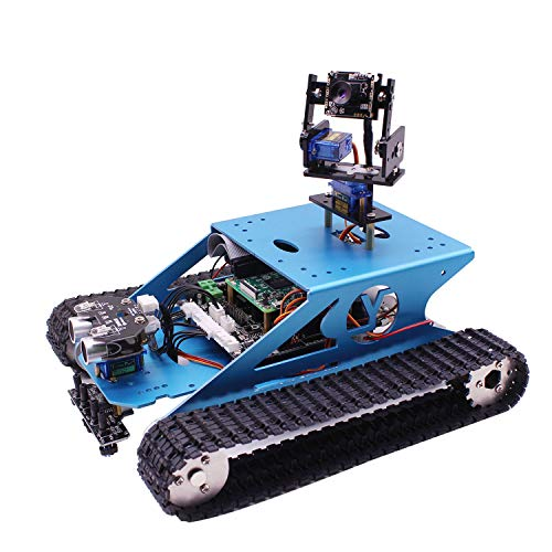 (Yahboom Professional Raspberry Pi Tank Smart Robotic Kit WiFi Wireless Video Programming Electronic Toy DIY Robot Kit for Kids and Adults Compatible RPI 3B/3B+(Without Raspberry Pi) (RPI Tank))