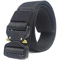 HOTSO 2 Pack Nylon Cinturón Táctico, Pretina Militar al Aire Libre 130cm Longitud Lona Transpirable Ceñidor para Hombre…
