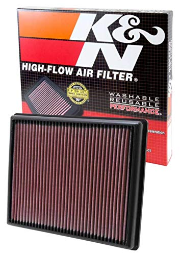 K&N engine air filter, washable and reusable:  2012-2019 BMW L3/L6 (M2, i8, 335i, 435i, M135, M235, 435i) 33-2997