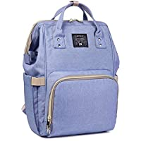 Okayji Multi-Function Waterproof, Baby Travel Backpack Diaper Bag with Large capacity baby Nappy Compartment (Purple)