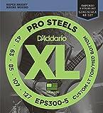Best D'Addario Bottom Hybrids - D'Addario EPS300-5 ProSteels 5-String Bass Custom Light, 43-127 Review