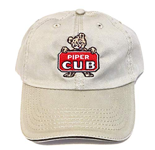 Vintage Piper Cub Hat (Khaki) ()