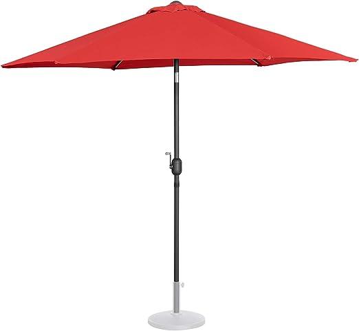Uniprodo Sombrilla Grande Parasol De Jardín Uni_Umbrella_R270RE ...
