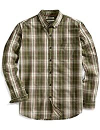 "<span class=""a-offscreen"">[Sponsored]</span>Men's Standard-Fit Long-Sleeve Plaid Slub Shirt"