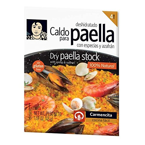 Instant Seafood Paella Mix with Saffron Carmencita Paella Stock and Spice Mix for 4 people 1.59 oz