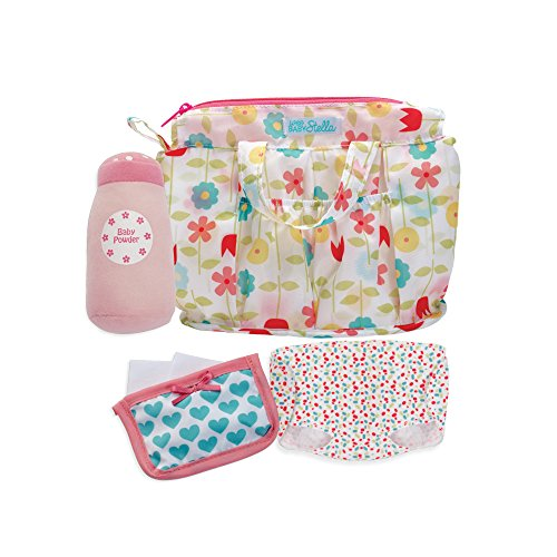 "Manhattan Toy Wee Baby Stella Delightful Diaper Bag Baby Doll Accessories Set for 12"" Dolls"