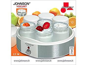 Johnson yogur Maker - Yogurtera eléctrica - Máquina inoxidable 7 tarros 1 kg: Amazon.es: Hogar