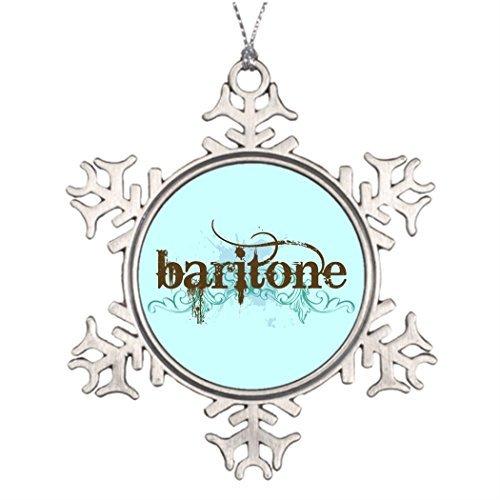 EvelynDavid Ideas for Decorating Christmas Trees Cool Baritone Music Western Christmas Snowflake Ornaments Tree Decor