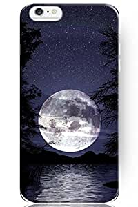 Fashion Design Idea Gift Hard Skin Cover Shell Full Moon and Strarry Sky on River (5.5-Inch) Apple Iphone 6 Plus Case by ruishername