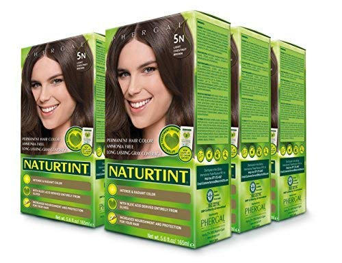 6 pack of Permanent Hair Color - 5N, Light Chestnut Brown, 5.6 oz