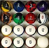 Pool Table Billiard Ball Set, Tech Style