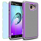Samsung Galaxy A5 (2016) / A510F Case, INNOVAA Smart Grid Defender Armor Case (Not Compatible with Samsung Galaxy A5 (2015)) W/ Free Screen Protector & Touch Screen Stylus Pen - Grey/Light Purple
