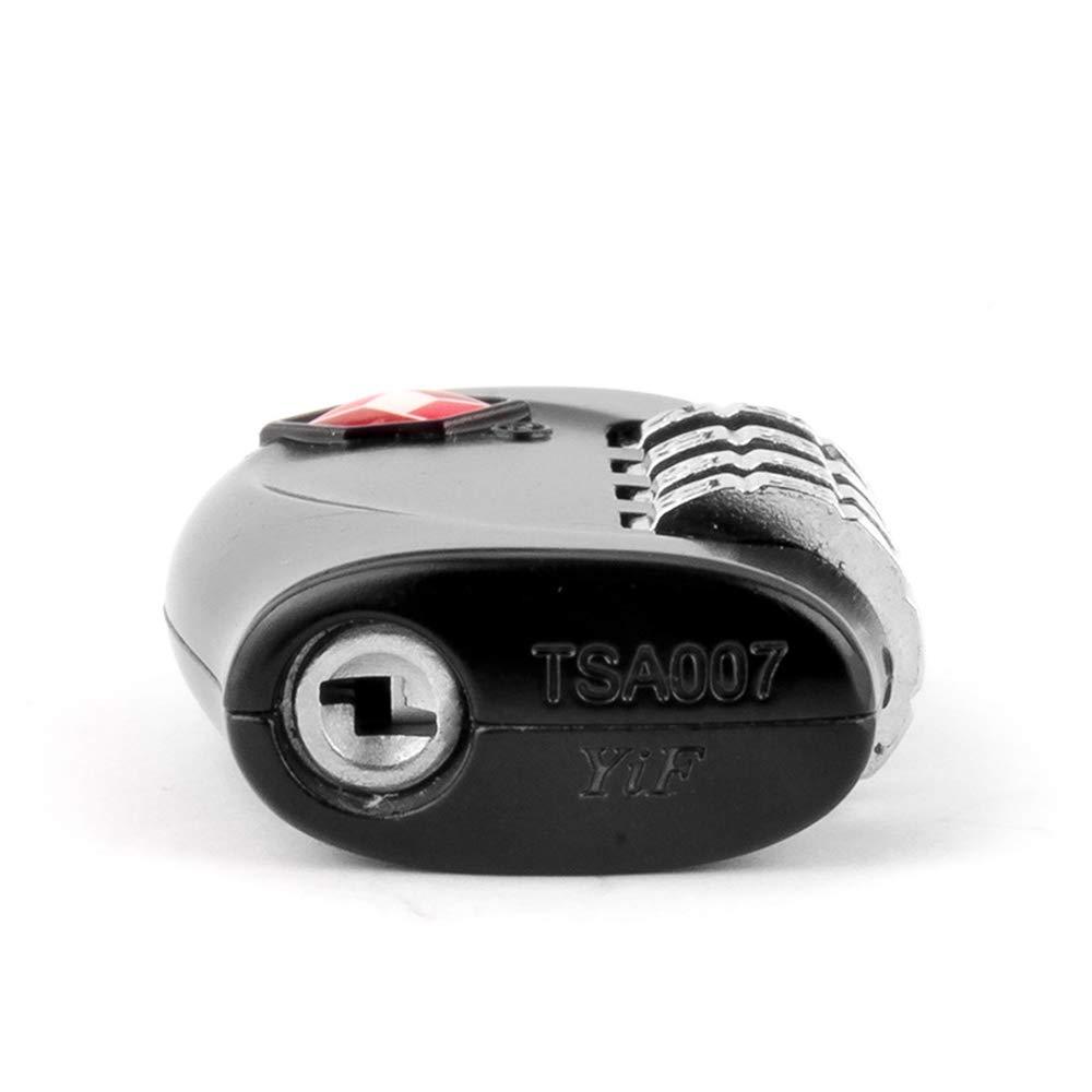 Fliyeong Portable et Pratique 4 serrures num/ériques TSA Security Lock appropri/é pour Les classeurs de Sport /école Gymnase Noir, 2pcs