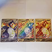 Charizard VMAX Champion's Path Custom Metal Cards (All 3 Cards) Rainbow Hyper Secret