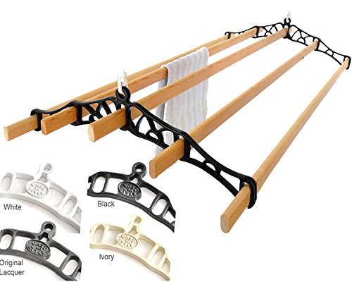 Premium British Cast Iron Ceiling Airer Victorian 5-Slat Bracket Black 6ft-Slats - Pulley Clothes Dryer
