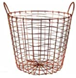 Copper Plated Storage Basket