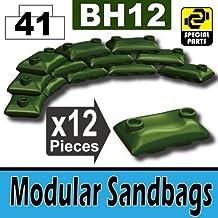Custom Tank Green Army Sandbags Designed for toy Brick Minifigures
