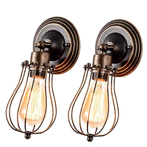 Industrial Wall Sconce Rustic Lighting, Gladfresit Retro Metal Barn Wall lamp, Indoor Farmhouse Lights Fixture Adjustable (Bulb Not Included) (Oil-Rubbed Bronze)