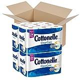 Cottonelle CleanCare Toilet Paper, 48 Double Rolls, Strong Bath Tissue