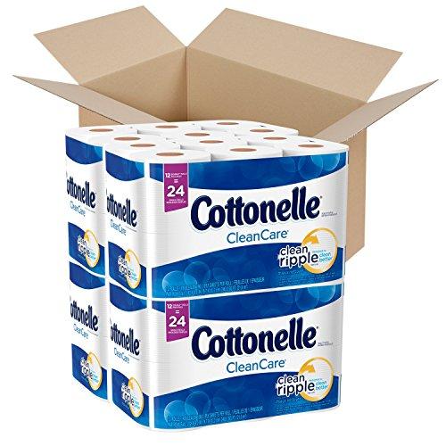 Cottonelle CleanCare Toilet Paper, 48 Double Rolls, Strong Bath Tissue (Cottonelle Roll Double Toilet Paper)