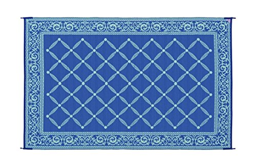 Reversible Mats 116093 Blue/Light Green 6u0027x9u0027 RV Garden Mat