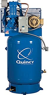 product image for Quincy Compressor QP Pressure Lubricated Reciprocating Air Compressor - 10 HP, 200/208 Volt 3 Phase, 120 Gallon Vertical, Model Number 3103DS12VCA20